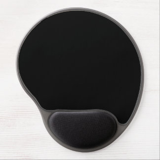 Simply Black Solid Color Gel Mouse Pad