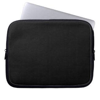 Simply Black Solid Color Laptop Sleeve