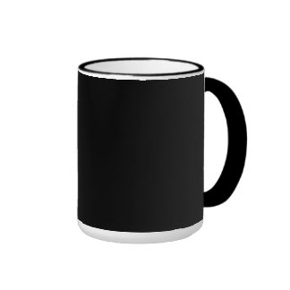 Simply Black Solid Color Ringer Coffee Mug
