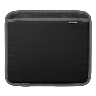 Simply Black Solid Color Sleeves For iPads