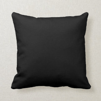 Simply Black Solid Color Throw Pillow