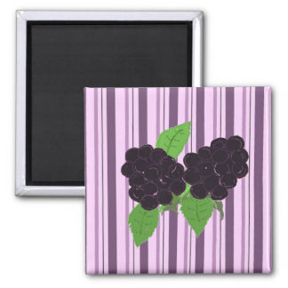 Simply Blackberries 2 Inch Square Magnet
