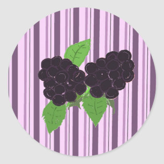 Simply Blackberries Classic Round Sticker