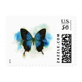 Simply Blue Butterfly borderless postage