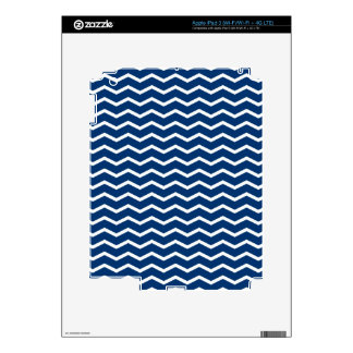 Simply Blue Chevron Pattern 1 in blue and white Skin For iPad 3