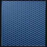 """Simply Blue Japanese Wave Pattern Cloth Napkin<br><div class=""""desc"""">Wave pattern in blue and white</div>"""
