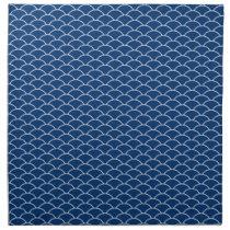 Simply Blue Japanese Wave Pattern Cloth Napkin