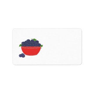 Simply Blueberries Address Label