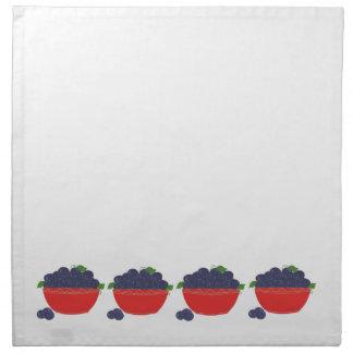 Simply Blueberries Printed Napkins
