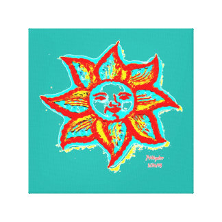 Simply Bright Sun Wrapped Canvas