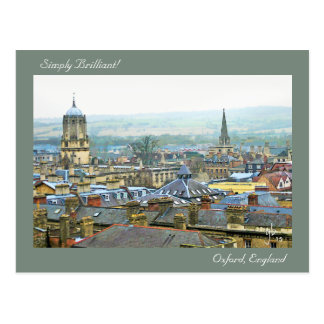 Simply Brilliant, Roof Top View Of Oxford, England Postcard