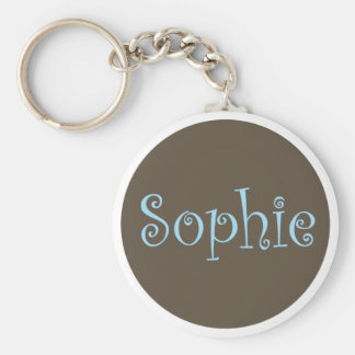 "Simply Brown & Blue Keychain ""Sophie"""