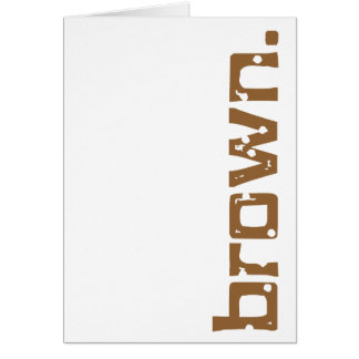 Simply brown - for Senator Scott Brown Stationery Note Card