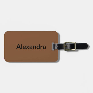Simply Brown Solid Color Tag For Bags