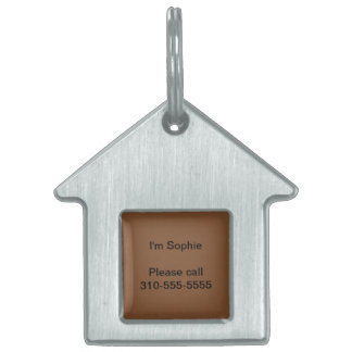 Simply Brown Solid Color Pet ID Tag