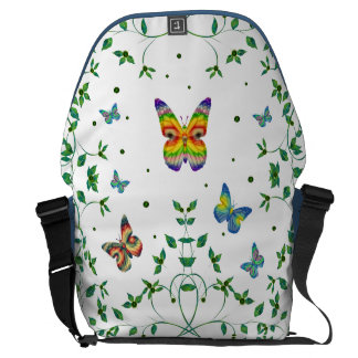 Simply Butterfly Messenger Bag