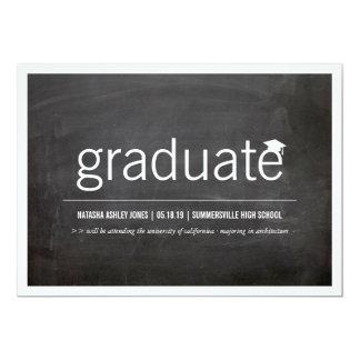 Simply Chalkboard Modern Graduate Graduation Photo Card