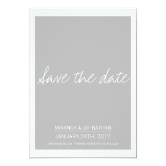 Simply Chic Gray Save The Date Announcements