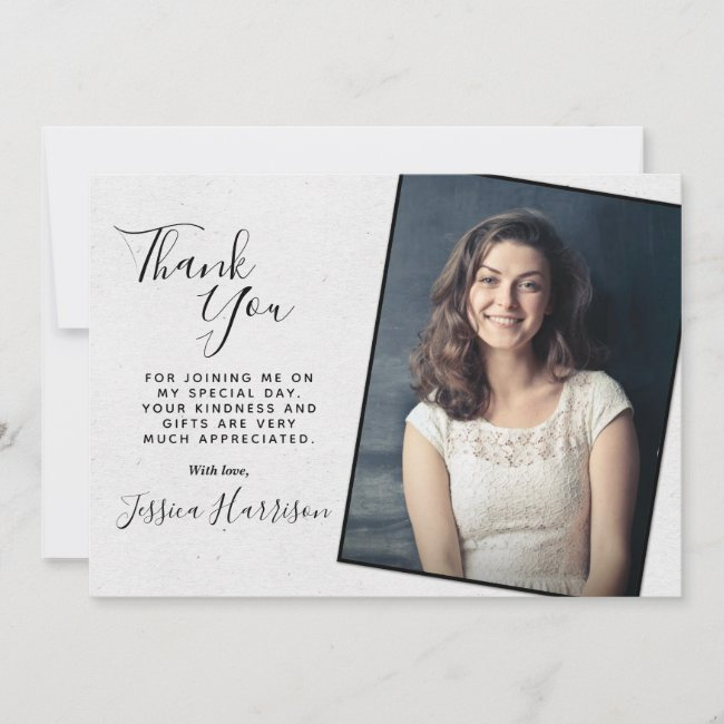 Simply Chic Photo Thank You Graduation Cards