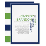 Simply Chic Wedding Invitations / Navy Lime