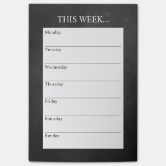 Simply Chic Weekly Planner | Chalkboard Post-it Notes