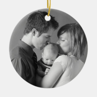 Simply Christmas Custom Photo Ornament