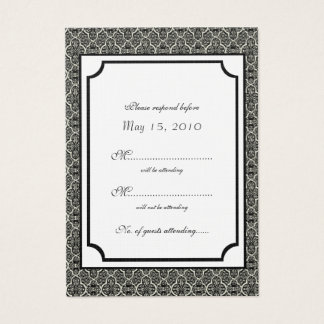 Simply Classic Damask RSVP Card