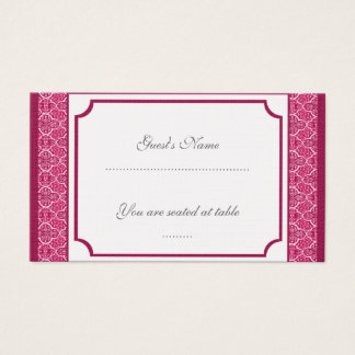 Simply Classic Damask Wedding Placecard Business Card