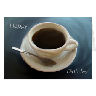 Simply Coffee Birthday Card