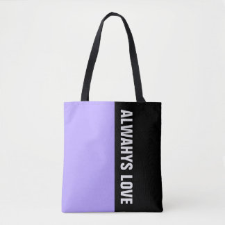 Simply colors LIGHT VIOLET & your Text Tote Bag