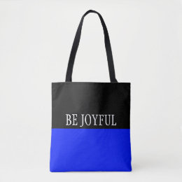 Simply colors ROYAL BLUE & your Text Tote Bag