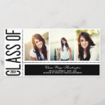 """Simply Cool Graduation Announcement<br><div class=""""desc"""">Showcase your grad&#39;s cool style as you share this major milestone with your family and friends. Also available in more colors. Matching postage stamp available at berryberrysweet.com</div>"""