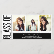 Simply Cool Graduation Announcement