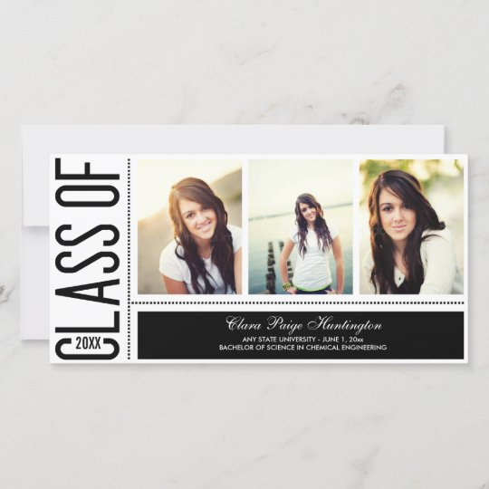 simply cool graduation announcement zazzle com