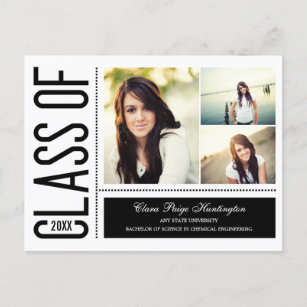 Graduation announcement postcards simply cool graduation announcementinvitation invitation postcard filmwisefo
