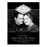 Simply Couture Save The Date Postcard - Black Post Card