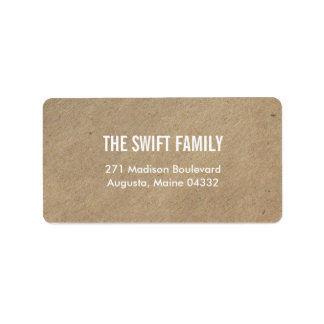 Simply Crafted Address Labels