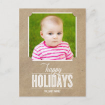 Simply Crafted Holiday Photo Card Postcard