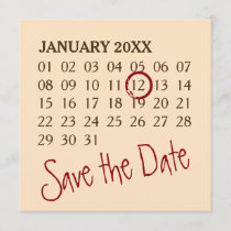 Simply Custom Calendar   your photo, backgr., text Save The Date
