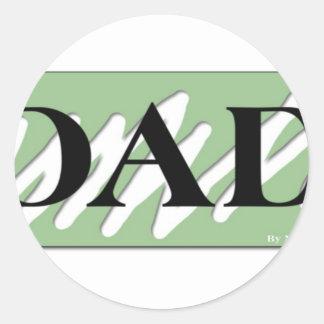 Simply Dad Classic Round Sticker