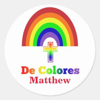 Simply De Colores Classic Round Sticker