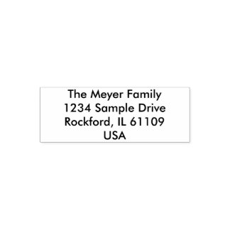 Simply Design - Your Address & ideas Self-inking Stamp