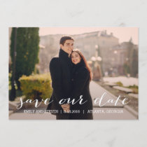 Simply Effortless Wedding Save The Date Card