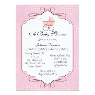 "Simply Elegant Baby Shower Personalized Invite 5.5"" X 7.5"" Invitation Card"