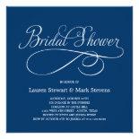 Simply Elegant Bridal Shower Invitation Navy