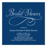 Simply Elegant Bridal Shower Invitation Navy Personalized Invite