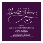 Simply Elegant Bridal Shower Invitation Purple Custom Invite
