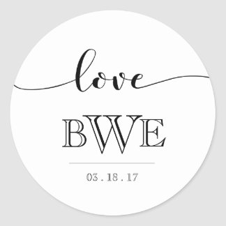 Simply Elegant Calligraphy Wedding Sticker
