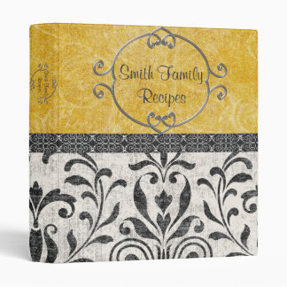 Simply Elegant Damask Recipe Binder