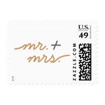 Simply Elegant Gold Mr.   Mrs. Stamp